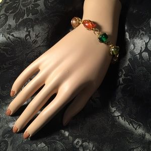Jewelry - Vintage Beaded Bracelet with Wire Scrolling